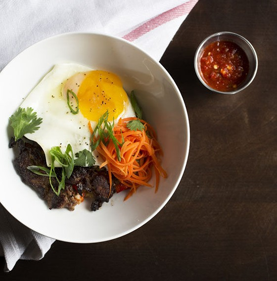 The bibimbap bowl at Atlhete Eats. | Jennifer Silverberg
