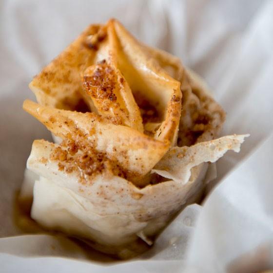 The pinwheel-shaped baklava at Vinnie's Italian Beef and Gyros. | Corey Woodruff