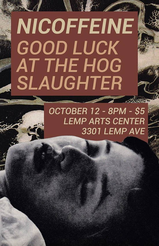 OCTOBER 12 FLYER COURTESY OF LEMP NEIGHBORHOOD ARTS CENTER.