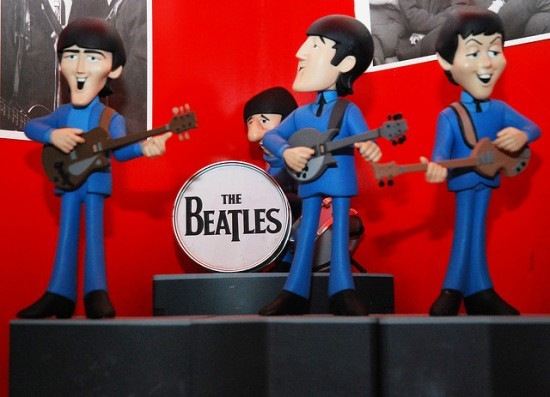 The Beatles sort of looked like this when they performed at Busch Stadium in 1966. - GEORGE VALE | FLICKR