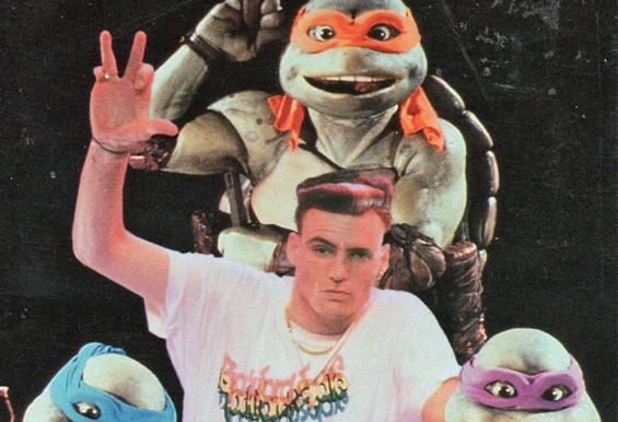 """Vanilla Ice's """"Ninja Rap"""" from Teenage Mutant Ninja Turtles II: The Secret of the Ooze (1991)."""