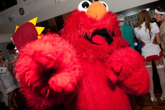 This weekend was just the warm-up lap for that Tickle-Me Elmo costume. - JON GITCHOFF