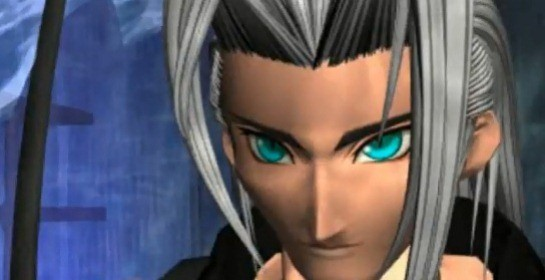 Sephiroth's evil stare was made all the more menacing by Final Fantasy VII's musical score.