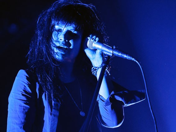 Alison Mosshart of the Dead Weather on Saturday night at the Pageant. See more photos from the Dead Weather at the Pageant. - PHOTO: JASON STOFF