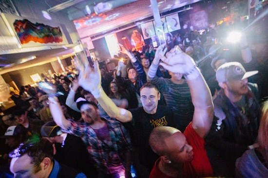 The excited crowd at 2720 on Friday. - THEO WELLING