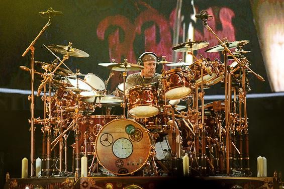 Rush drummer Neil Peart. More photos from the show here. - TODD OWYOUNG