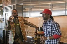 MURPHY LEE AND KYJUAN AT THE FREAKY WINE DEBUT LAST FALL. COURTESY OF FREAKY MUSCATO