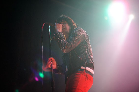 Julian Casablancas last night on the Pageant stage. See more photos from last night's Julian Casablancas show at the Pageant. - PHOTO: TODD OWYOUNG