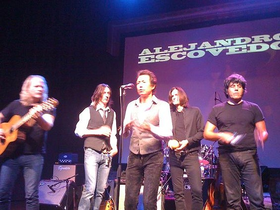 Griffin is just to the left of Alejandro Escovedo, front - COURTESY OF JIMMY GRIFFIN