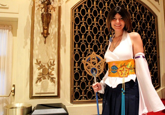 Some fans came in costume: Yuna from Final Fantasy X. - MABEL SUEN