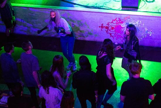 Sofia Reta performs at Apop's tenth birthday party.   Photos by Mabel Suen