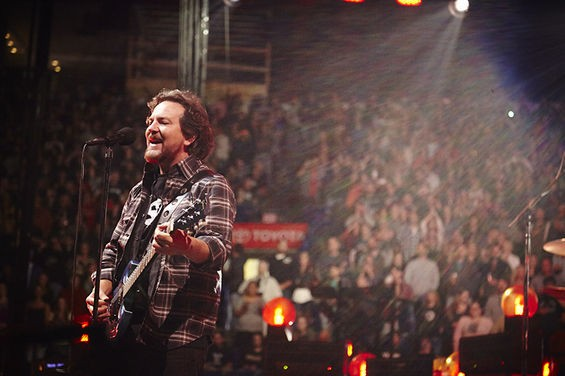 Eddie Vedder belts one out for his favorite St. Louis Cardinals fans. See more photos here. - STEVE TRUESDELL