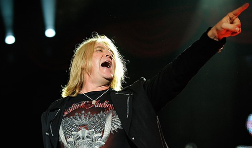 Def Leppard singer Joe Elliot. See more photos from the show. - PHOTO: TODD OWYOUNG