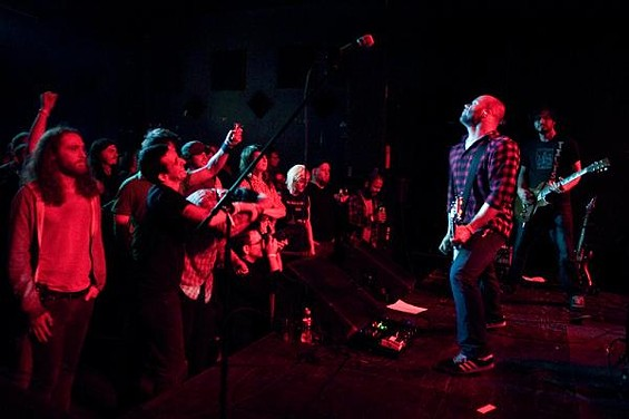 A healthy crowd showed up for Torche - JON GITCHOFF