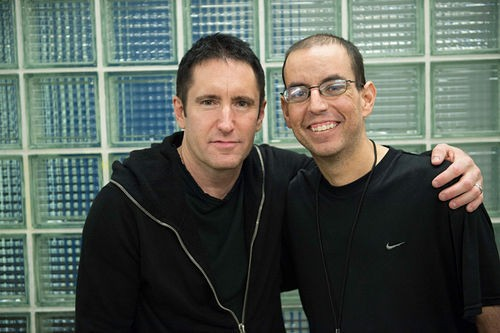 Youssef with Trent Reznor.