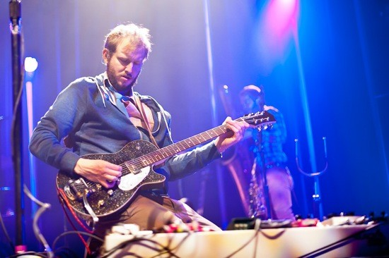 Justin Vernon of Bon Iver at the Pageant in 2011. He'll be at Coachella, as well, but can he stand up to kindred spirit Andrew Bird? - JASON STOFF