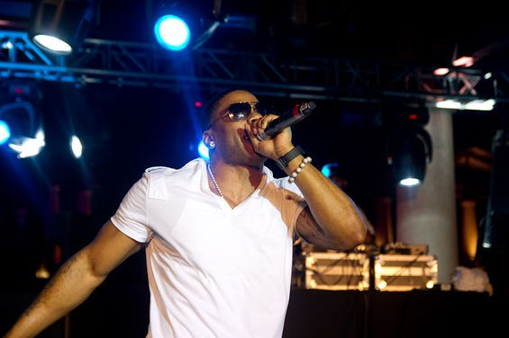Nelly in happier times, performing in Kiener Plaza. - ERIN KINSELLA