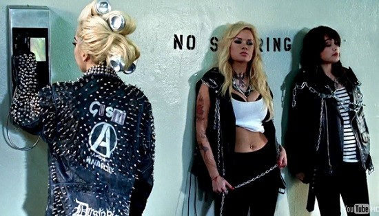 Lady Gaga sporting a Gism jacket -- more on that here.