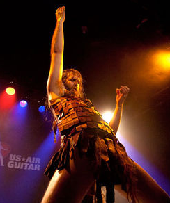 "Justin ""Nordic Thunder"" Howard - MIRIAM DOAN, COURTESY OF U.S. AIR GUITAR"