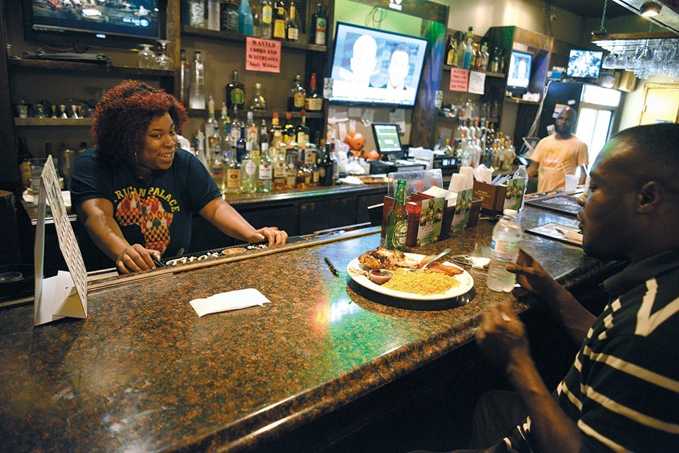 African Palace transports drinkers to Nigeria ... and, depending on the day of the week, Jamaica.