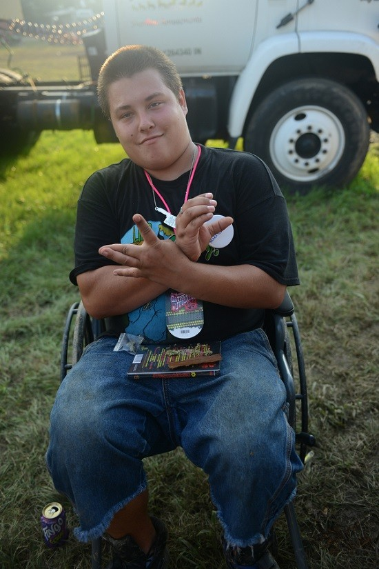 "Alias, sitting in Cody's wheelchair. Of course. - NATE ""IGOR"" SMITH"