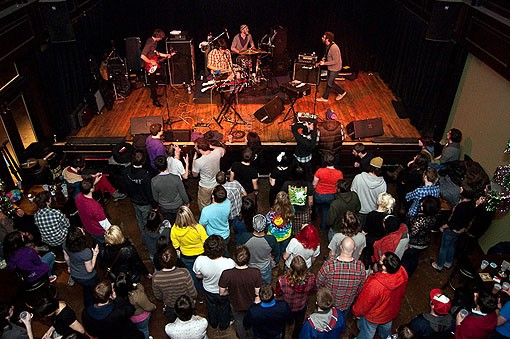 The view from the balcony of the Old Rock House during So Many Dynamos' set on Friday night. See more photos here.