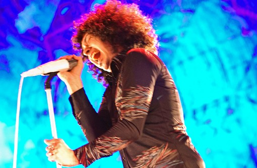 Cedric Bixler-Zavala of the Mars Volta. See more photos from last night. - PHOTO: JASON STOFF