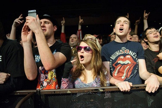 The excited crowd at the Pageant last night. - TODD OWYOUNG