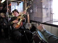 Pokey LaFarge & the South City Three during last year's Rhythm & Rails performance. - COURTESY OF MTA