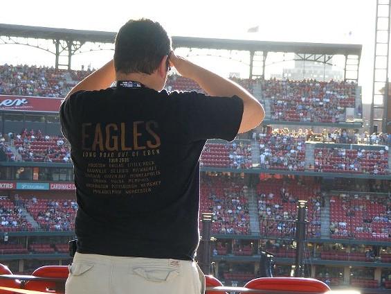 An Eagles fan before the show - KATIE MOULTON