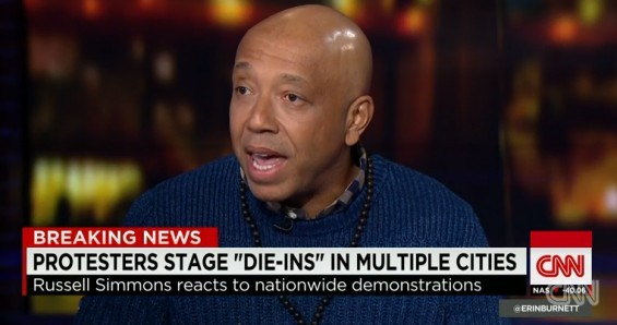 Russell Simmons during his CNN interview earlier this week. - SCREENSHOT FROM THE CNN INTERVIEW DISCUSSED BELOW.