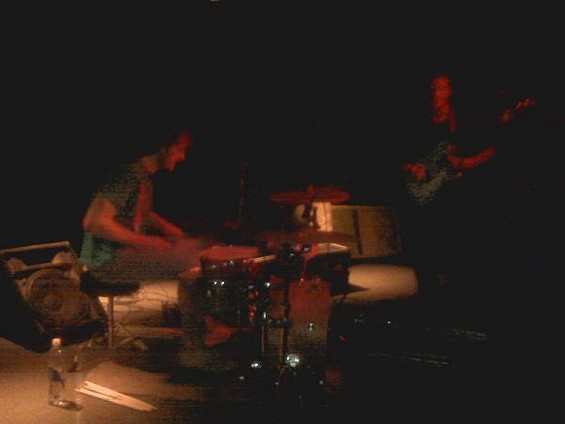 Zach Hill is so fast, the camera cannot capture his drumming skills - LIZ DEICHMANN