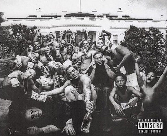 The arresting cover art to Kendrick Lamar's To Pimp a Butterfly