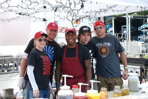 Steve Ewing and his team at Taste of St. Louis - COURTESY OF STEVE EWING