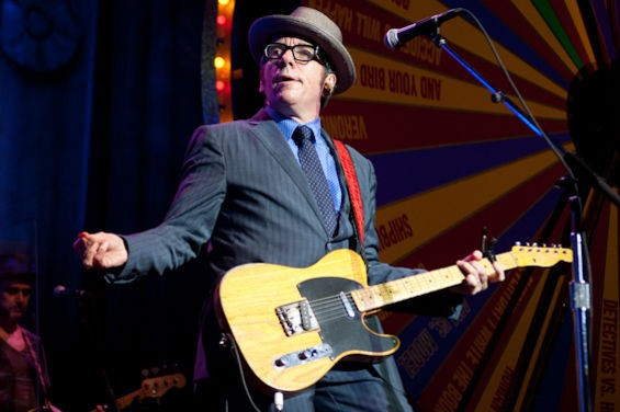 Elvis Costello returns to St. Louis this March. - PHOTO BY JON GITCHOFF.