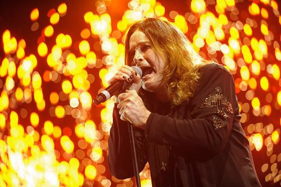 Ozzy Osbourne last night at the Scottrade Center - TODD OWYOUNG