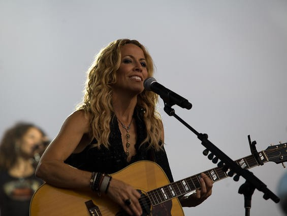 Sheryl Crow, performing last year under the Gateway Arch - STEW SMITH