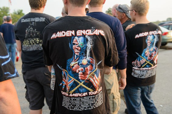 Iron Maiden fans on Sunday night. - TODD OWYOUNG
