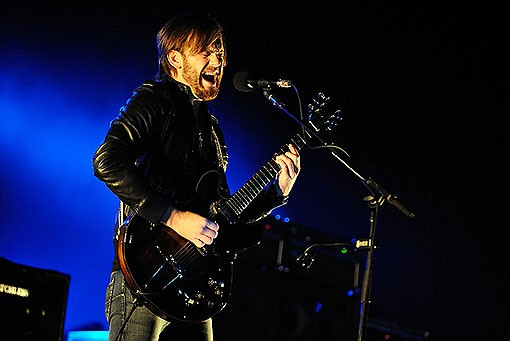 Caleb Followill of Kings of Leon last night at the Scottrade Center. See more photos from last night's Kings of Leon show. - PHOTO: TODD OWYOUNG