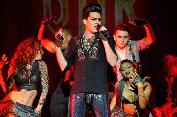 Adam Lambert last night at the Pageant. More photos from the night are right here. - TODD OWYOUNG