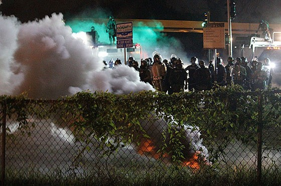 A scene from Ferguson on Wednesday night, during the time I was staring at the keys inside my car like an idiot. More photos here. - DANNY WICENTOWSKI