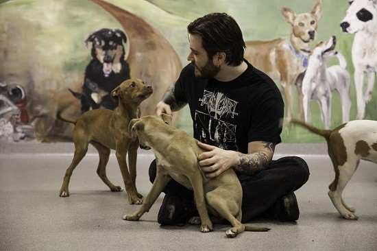 TLD vocalist Rick Giordano with even more furry pals. Credit: Adam Taylor