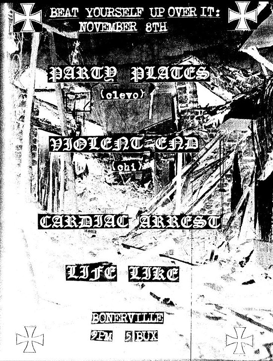 Party Plates/Violent End flier by Beer Boi.