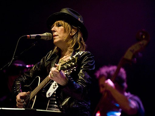 LUCINDA WILLIAMS AT THE PAGEANT IN 2009. PHOTO BY JON GITCHOFF