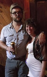 The author and her boyfriend Ryne Watts of the Hobosexuals - CASSIE KOHLER