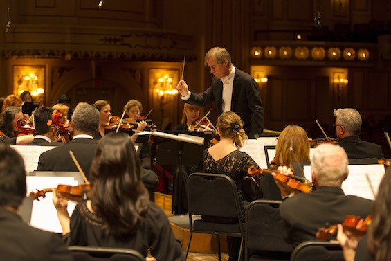 Music director David Robertson leads the St. Louis Symphony. - DILIP VISHWANAT