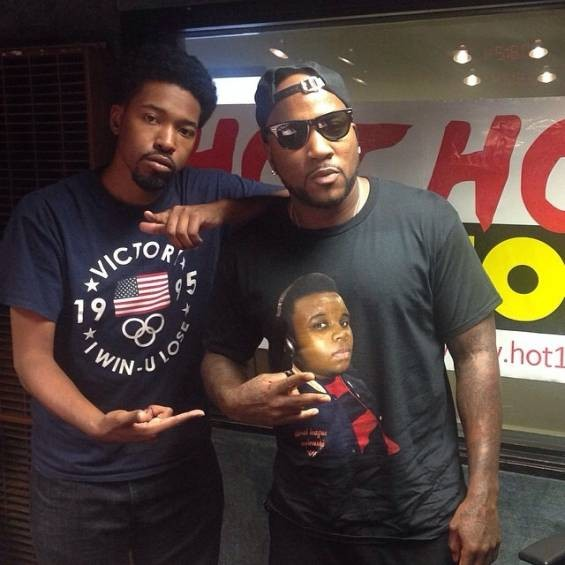 A-Plus and Jeezy hang out at the Hot 104.1 FM studio. - COURTESY OF A-PLUS