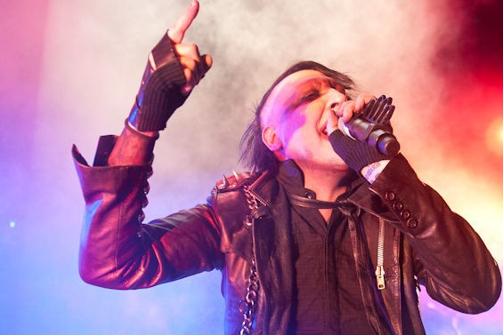 Marilyn Manson returns to St. Louis tonight with Hide. Check out this slideshow for more pictures from his 2013 show with Alice Cooper at the Family Arena. - PHOTO BY JON GITCHOFF