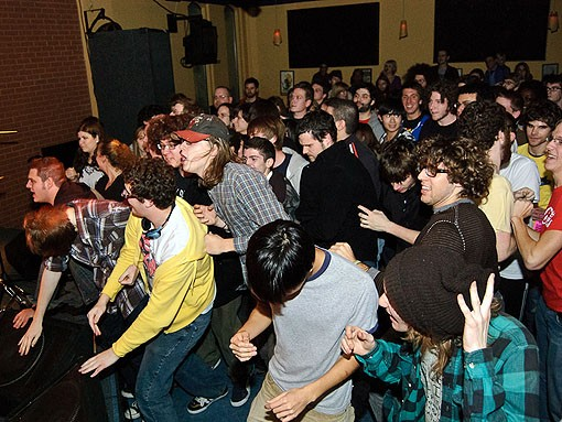 "Tracks such as ""Heart Sweats"" moved the crowd at the Billiken Club. See more photos from last night's show in our slideshow. - PHOTO: JASON STOFF"