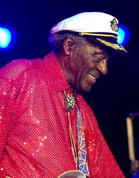 Chuck Berry at Kiener Plaza on July 29, 2010 - ERIN KINSELLA
